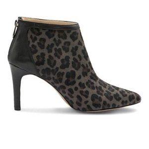 Adrienne Vittadini Leopard Booties (8.5)